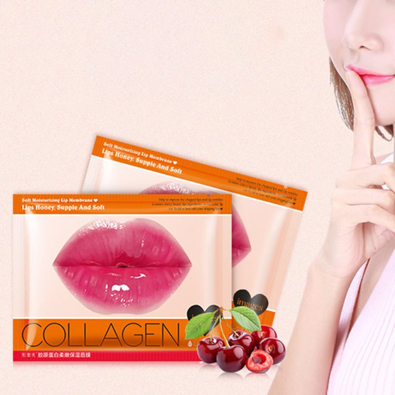 Lips Mask Collagen Cherry Extraction Moisturizing Anti Aging Anti Wrinkle Skin Care Products Natural