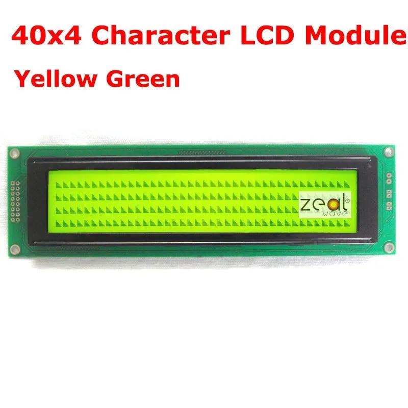 40x4 4004 אופי LCD מודול צהוב ירוק LED תאורה אחורית SPLC780D משלוח חינם משלוח מעקב