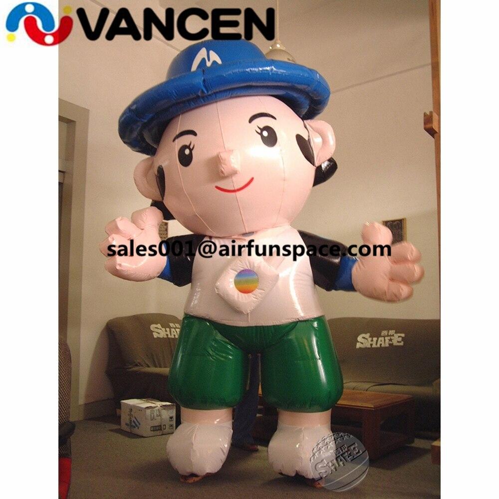Proveedor de China modelo de publicidad inflable figura de dibujos animados de película para publicidad 4 m alto modelo de cartoob inflable
