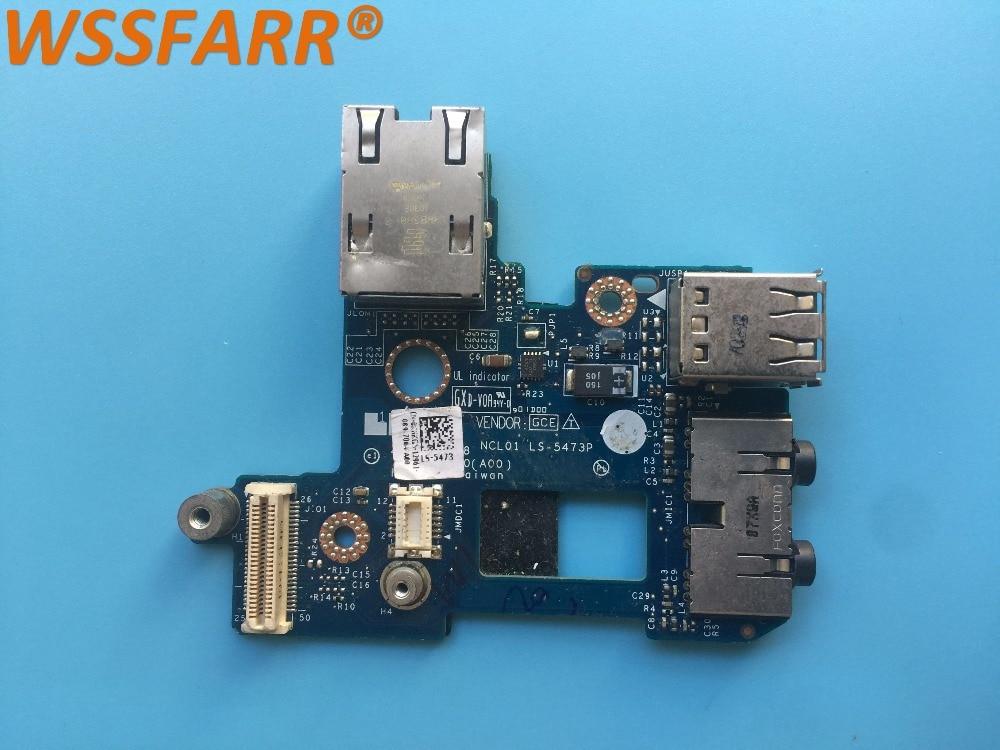Original FÜR Dell FÜR Latitude E6410 Audio Sound USB Port Bord LS-5473P