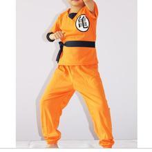 Japanese SON GOKU Childrens Halloween Anime Dragon Ball Z Monkey Cosplay Costumes Boys Clothes Kids Party Costume S~XXL