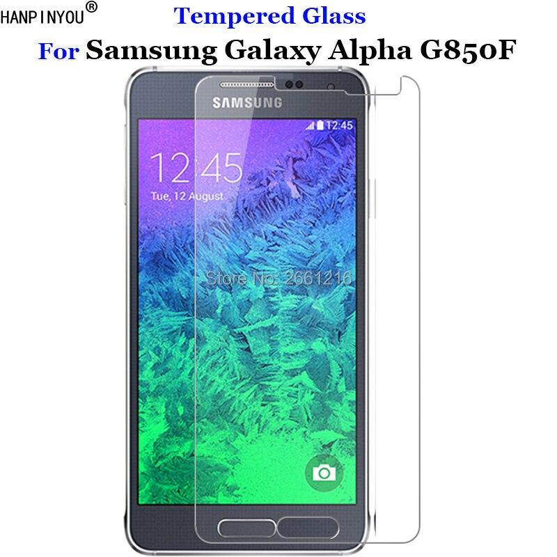 "Para Galaxy Alpha G850 vidrio templado 9 H 2.5D película protectora de pantalla Premium para Samsung Galaxy Alpha G850F G850T G850M 4,7"""