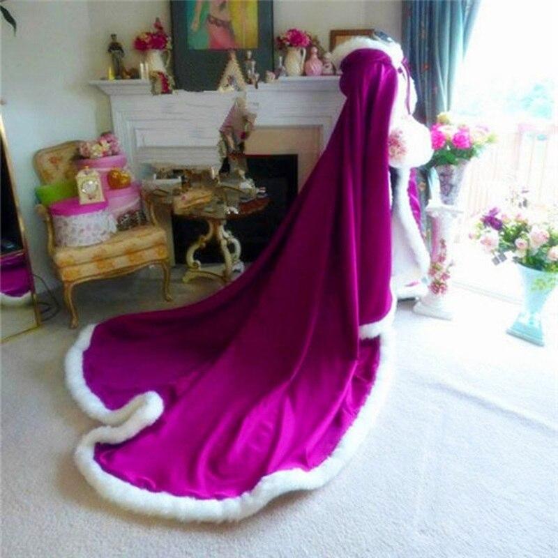 Capa larga cálida blanco marfil novia invierno boda capa chal satén + abrigo de piel artificial chal mujer poncho