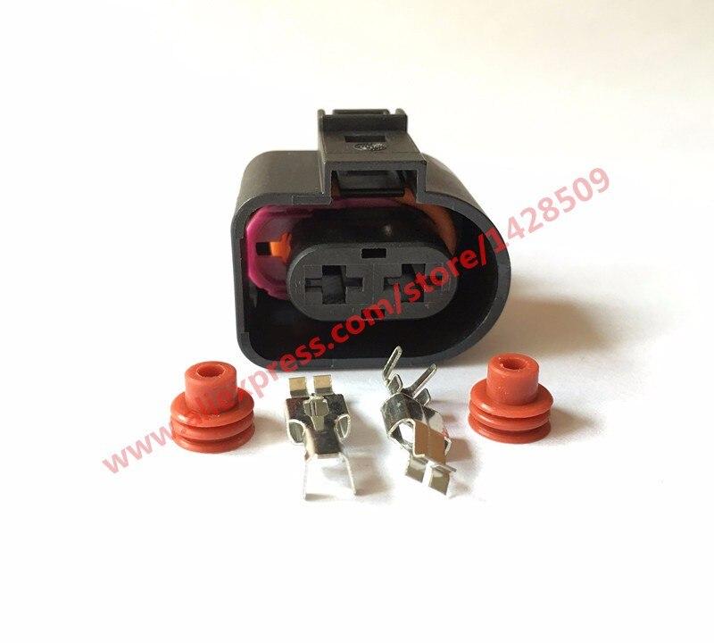 10 juegos de conector de inyección de combustible sellado automático de 2 pines hembra impermeable 1J0973752 1JO 973 752 para VW Toyota Honda Hyundai Elantra
