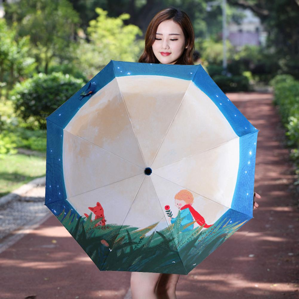 Sombrilla de protección solar con pegamento plateado para protección solar