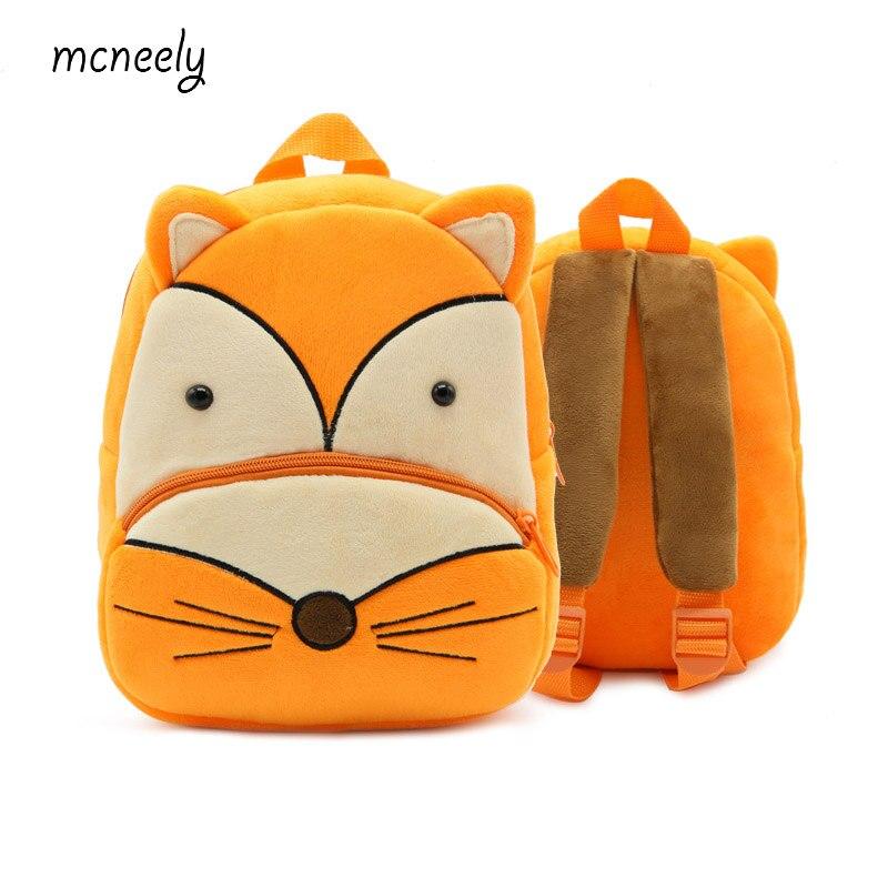 2-4 Years Old Kindergarten Kids Fox Backpacks Baby Girls Boys Cute Schoolbag Plush Backpack Children Cartoon School Bags