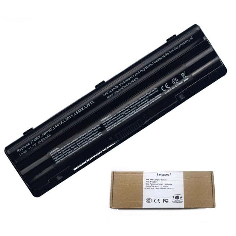 4400mAh J70W7 JWPHF L401X L501X L502X L701X batería del ordenador portátil para DELL XPS 14 15 17 L521X L702X R795X WHXY3 312-1123 R4CN5 0J70W7