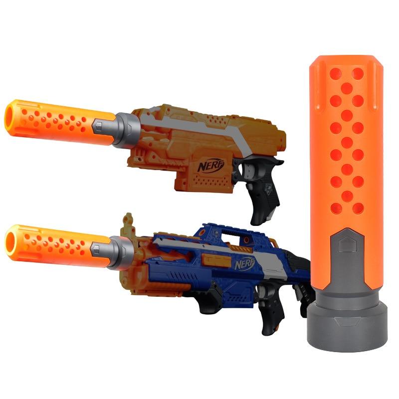 1 шт. игрушки Аксессуары для глушителя Модифицированная передняя трубка украшения для Nerf оранжево-серый