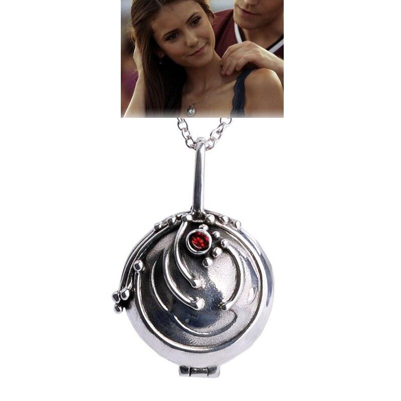 The Vampire Diaries Elena médaillon collier S925 argent Elena collier verveine pendentif bijoux pour femmes cadeau anniversaire cadeau Gir