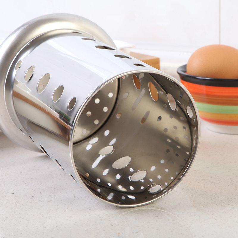 Stainless Steel Chopsticks Tube Tableware Storage Rack Drain Rack Shovel Spoon Bucket Knife Fork Storage Box Kitchen Utensils  - buy with discount