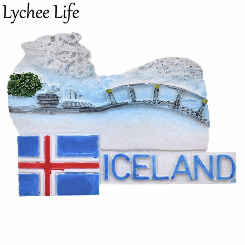 Iceland Science холодильник магнитный стикер знаменитый пейзаж магнит на холодильник сувенир Современное украшение для дома кухни