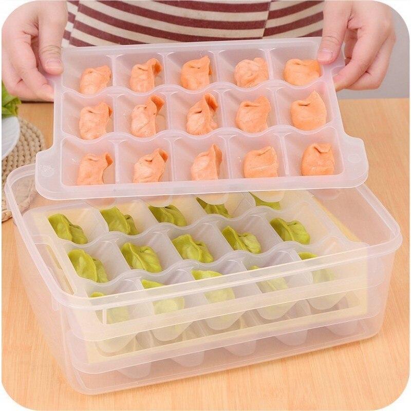 SAFEBET-صندوق تخزين طعام مجمد صغير ، منظم فواكه مع غطاء ، ثلاجة مطبخ ، صينية متعددة الشبكات