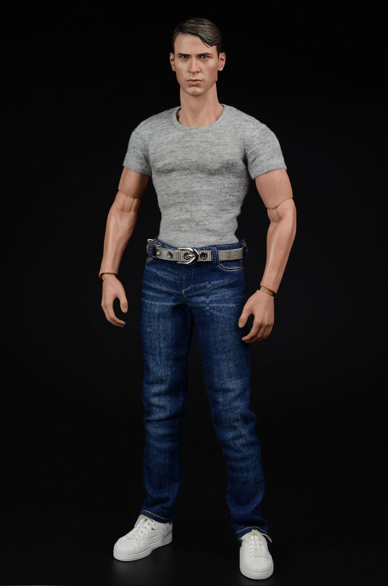 In Stock 1/6 Scale Men's Fashion Apparel American Team Jeans Trousers  Accessories for 12