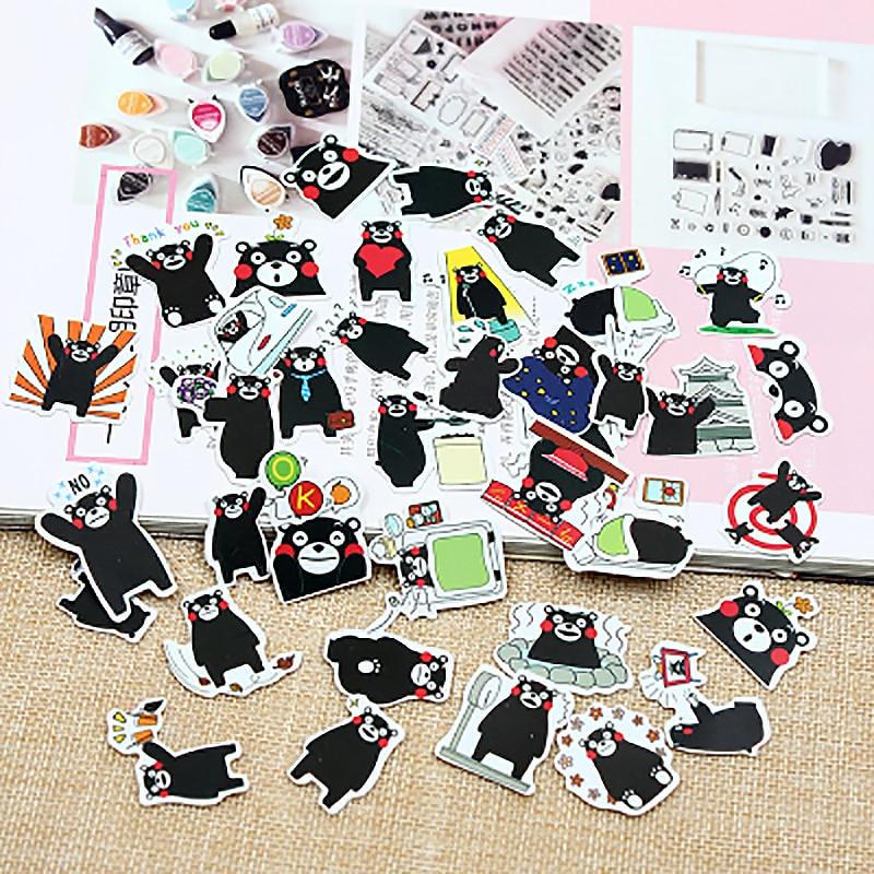 1 Uds Kawaii pegatinas de papelería lindo Kumamon patrón scrapbooking Posted It planificador Colegio estudiante memo