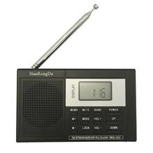HRD-1032 Draagbare Full-band Digitale Tuning Multiband StereoTuner MW/AM/FM/SW Kortegolf Radio REC Controle ontvanger DC-5v POWER