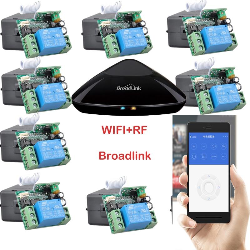 Broadlink RM PRO + 12 receptor, iphone/android WiFi + rf, dc12v 1 canal inalámbrico Control remoto interruptor Casas inteligentes sistema