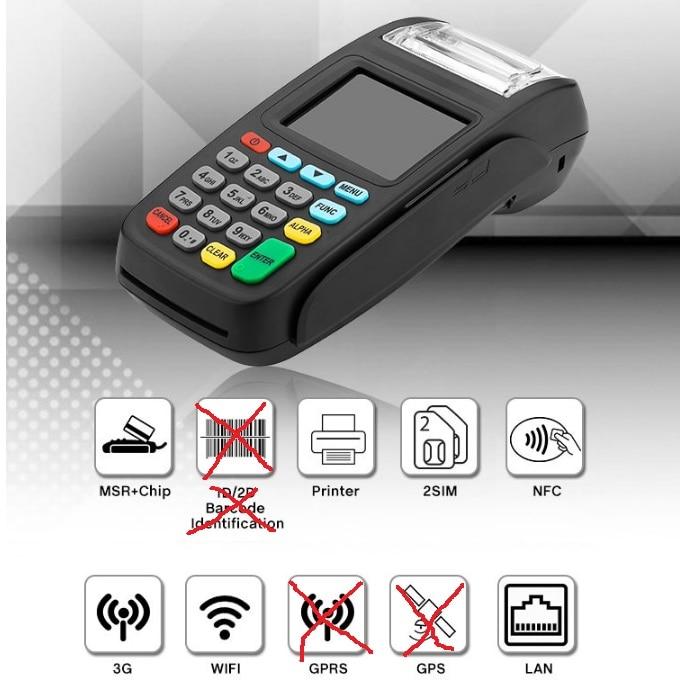 3G النسخة POS محطة ، لاسلكي جهاز دفع مع قارئ اتصال المدى القريب و LAN و واي فاي NEW8210