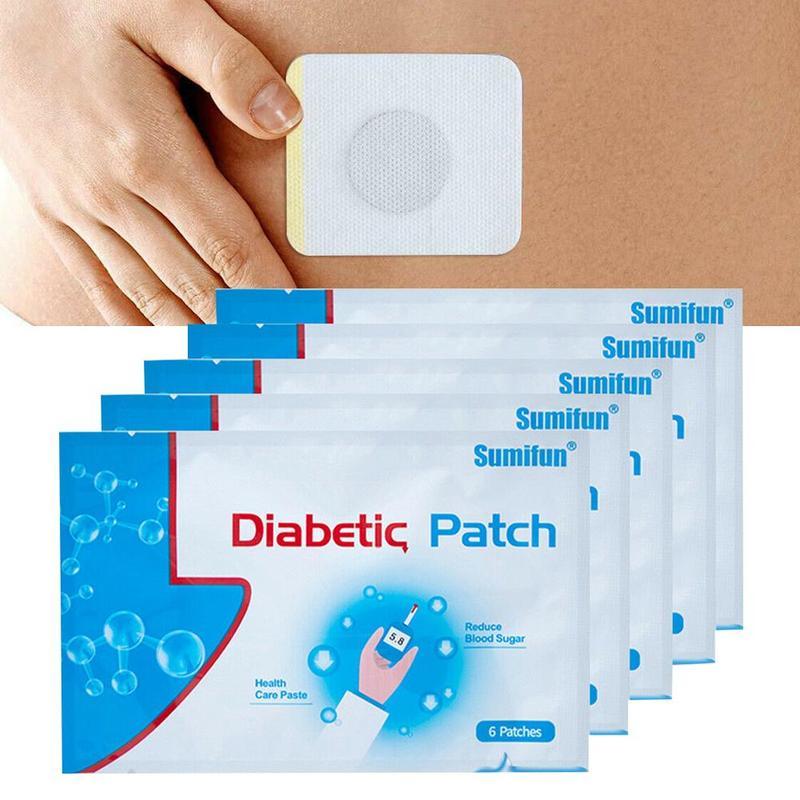 Parche diabético para la Diabetes, cura para reducir la glucosa en sangre, tratamiento Herbal Pactch para la Diabetes, Balance de azúcar, yeso, 5 bolsas = 30 uds/10 bolsas = 60 uds.