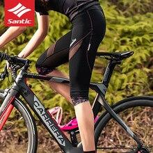 Pantalones cortos de ciclismo para mujer, pantalones cortos de malla 3D para ciclismo de montaña o de carretera, pantalones cortos de deporte corto 3/4