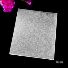 Tapis en plastique pour bricolage   Modèle de couronne de Scrapbook, matrices de découpe, dossier de gaufrage en plastique pour bricolage, 2019