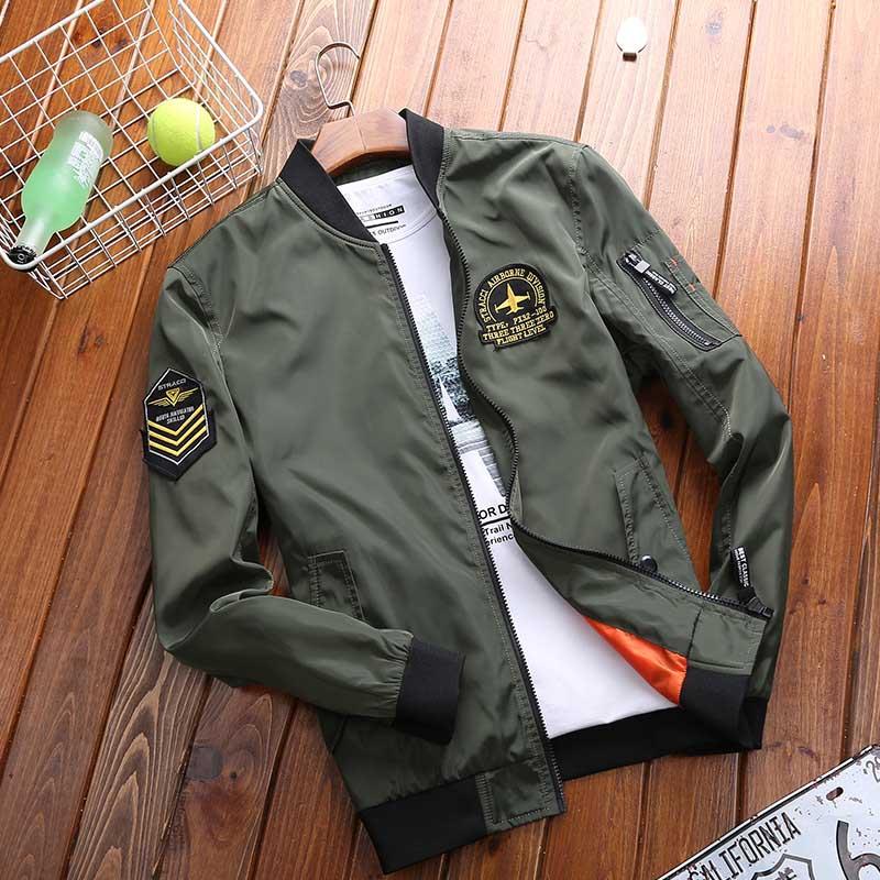 Весенне-осенняя корейская модная одежда, мужская куртка-бомбер, мужская повседневная куртка, ветровка, легкая бейсбольная куртка