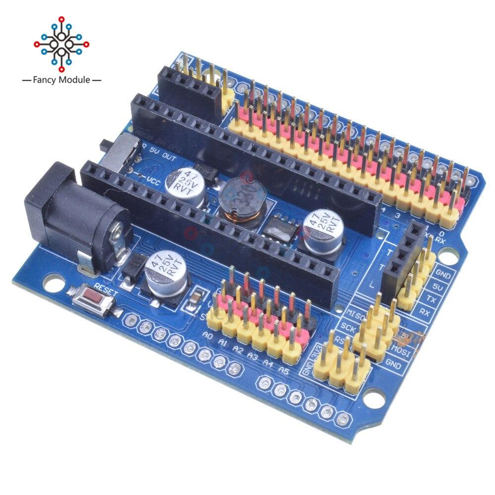 Для Arduino MICRO NANO duemilanove 2009 Uno R3 Leonardo Nano v3.0 Плата расширения I/O Модуль микросенсора