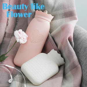 Silicone Microwave Heating Hot Water Bag Portable Winter Warm Water Bottle Pocket Hand Wamer With Cover Gift Box