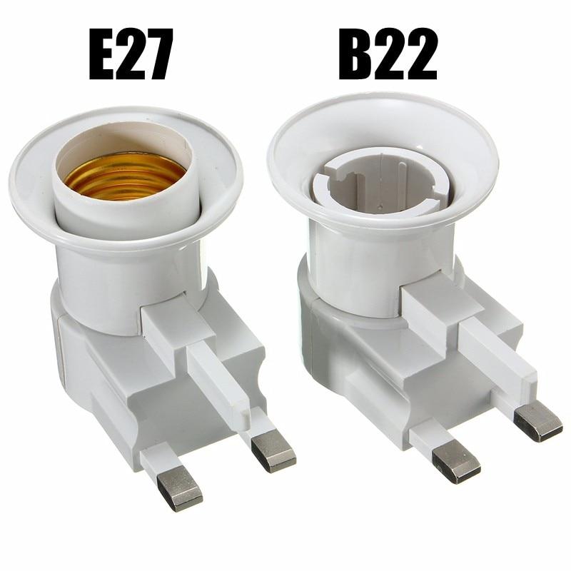 Цоколь лампы E27/B22, штепсельная вилка Великобритании, настенный винт, цоколь, лампочка, держатель для лампы, адаптер, конвертер, 110-240 В, С перек...
