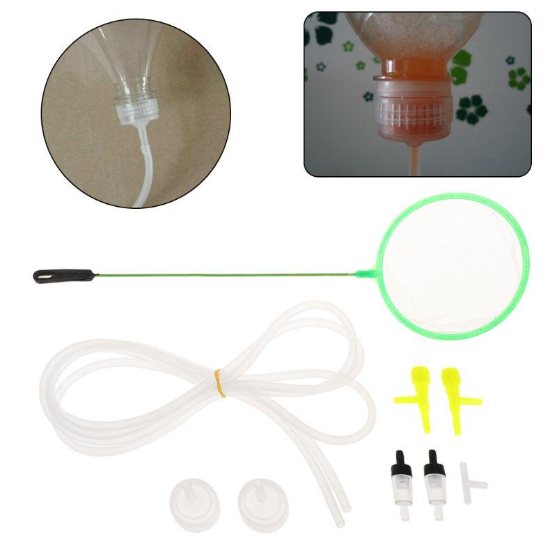 Incubadora de camarão de aquário, 9 peças, diy, sistema de hatch, conexão t, regulador de mangueira, kit de verificação e cultivo para peixes