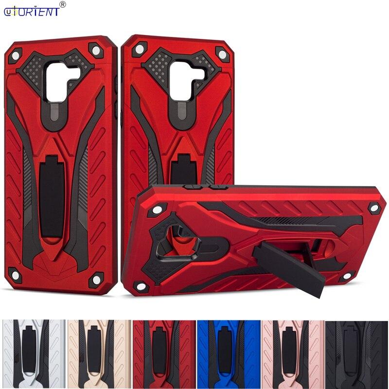For Samsung Galaxy J6 2018 Hybrid Armor Stand Case J600 SM-J600F/DS SM-J600FN/DS Shockrpoof Full Cover SM J600F/DS J600FN/DS