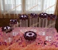7pcsset wedding crystal cake holder party centerpiece crystal cake standwedding decoration party prop wedding centerpiece