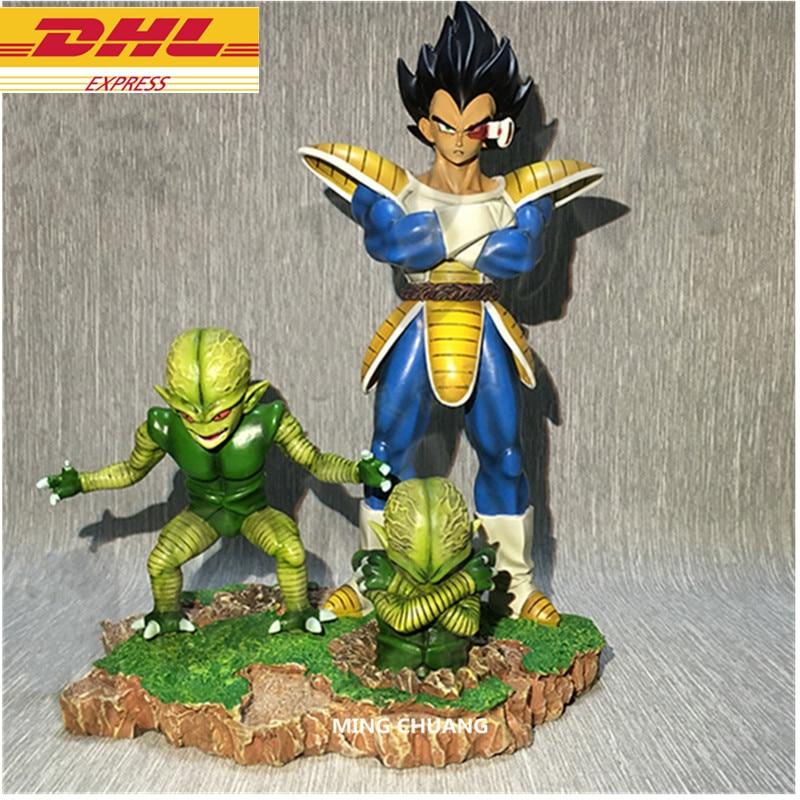 Estatua de 8 pulgadas Dragon Ball Z Bust Super Saiyan Vegeta retrato de longitud completa GK figura de acción juguete de modelos coleccionables caja 22CM J499