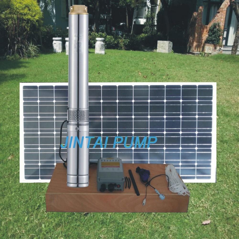 2 years warranty  24V 140watts Solar water pump, solar borehole pump system, dc pump for deep well,  Model No.:JC3-2.8-14