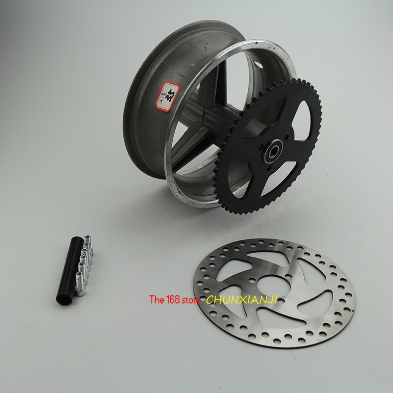 90/65-6,5 vorne oder 110/50-6,5 hinten Aluminium Rad hub, Kettenrad, bremsscheibe Achse lager passt 49cc Mini Dirt Bike e Roller Moto
