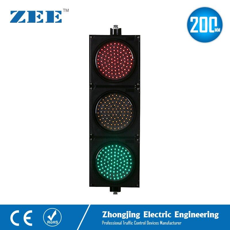 8 дюймов 200 мм СВЕТОДИОДНЫЕ светофоры красный желтый зеленый светодиодный светофорный сигнал