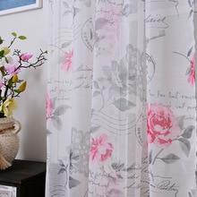 Tessuto voile tulle tende per camera da letto fiori posta prioritaria bambini Tende per il Salone cucina tende di tulle 1 pz