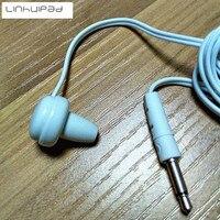 Linhuipad белый одноразовый earpbudslow затрат на одной стороне наушники для телевизора или прослушивания радио 4 шт./лот, бесплатная доставка