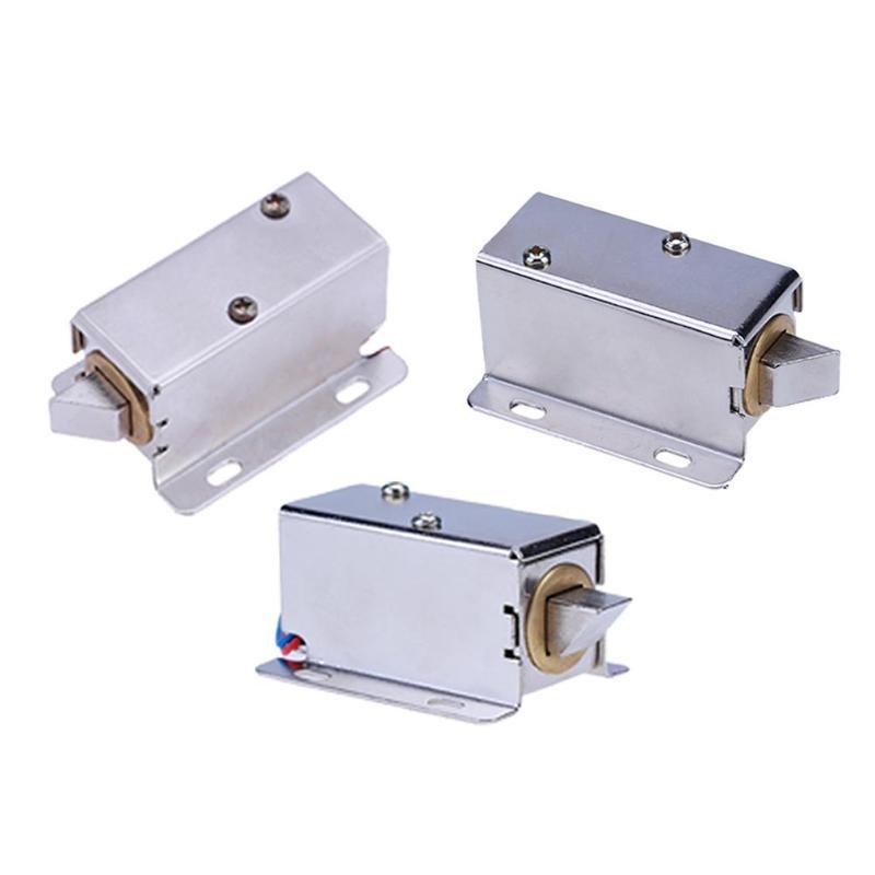 Cerradura electrónica Mini cerraduras magnéticas DC 12V bloqueo Control de acceso Cerradura Electromagnética barrera automática para cajón de gabinete