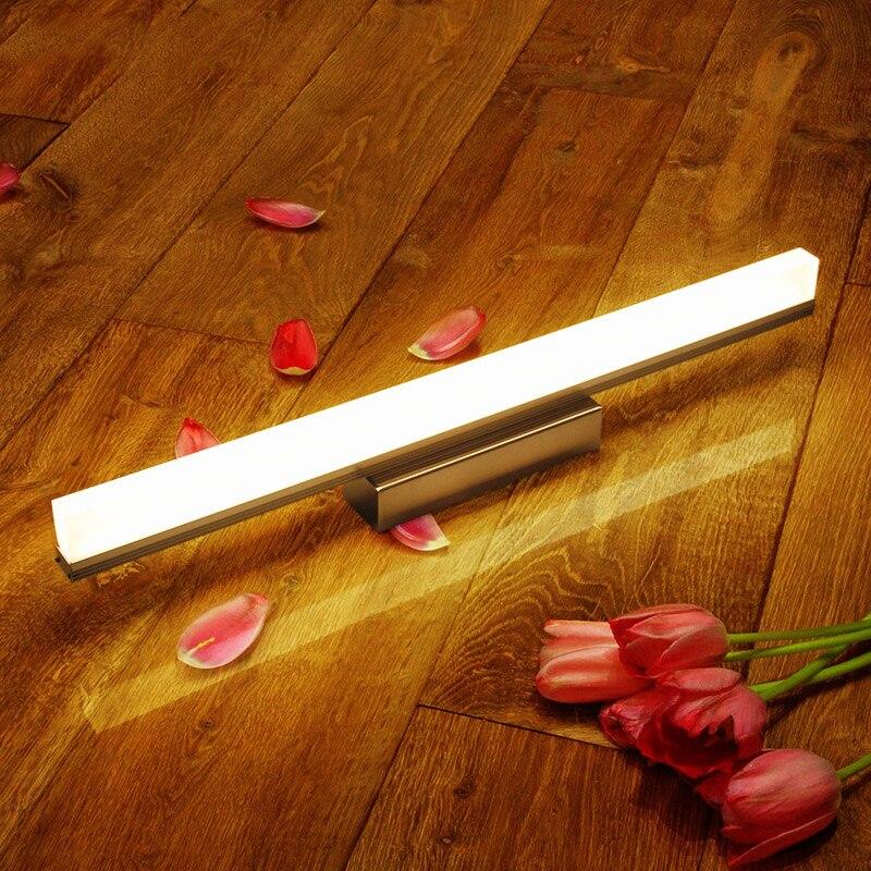 Espejo de aluminio Led luz frontal 39-49CM 9 W/12 W lámpara de pared de baño impermeable luces de pared cosméticas lámparas de iluminación interiores simples