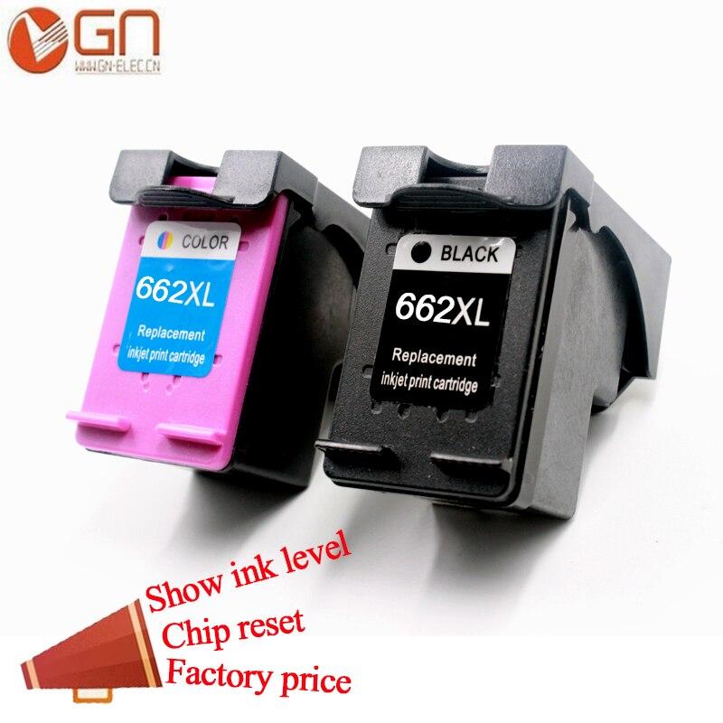 GN 662XL para HP 662 XL 662XL cartuchos de tinta, cartuchos de HP662 Deskjet serie ventaja 1015, 1515, 2515, 2545, 2645, 3515, 3545, 4515, 4645 de inyección de tinta