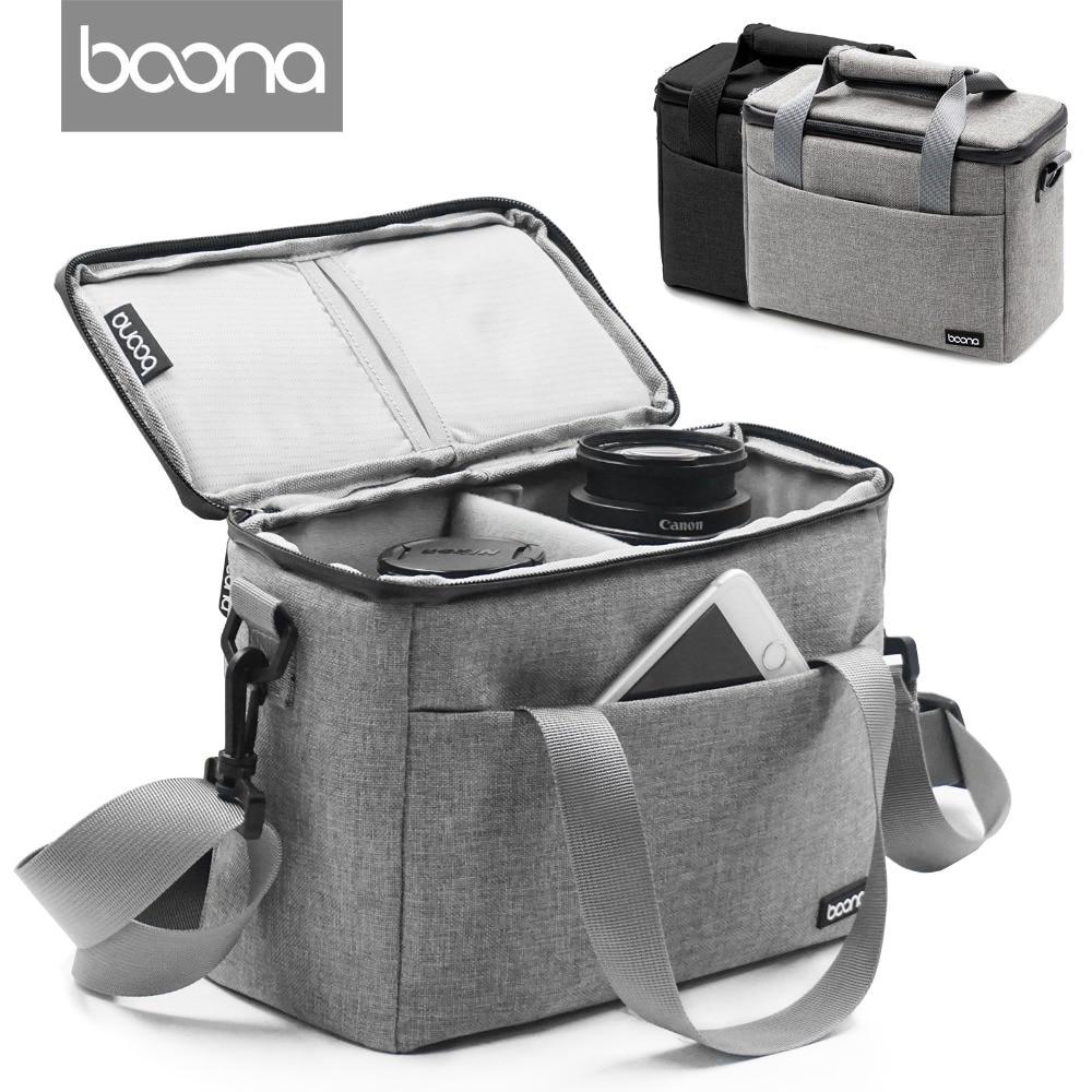 Boona Upgrade Waterproof multi-functional Digital DSLR Camera Video Bag Carrying Shoulder SLR  Bag  Padded for Photographer