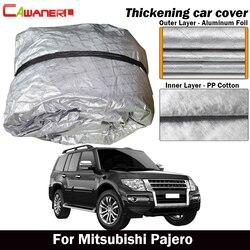 Cawanerl grosso algodão capa de carro à prova dwaterproof água ao ar livre sol sombra chuva neve granizo resistente suv capa para mitsubishi pajero
