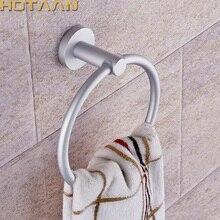 Toalleros portátiles redondos de aluminio, soporte de anillos montado en la pared, accesorios de baño, antióxido, YT-12191