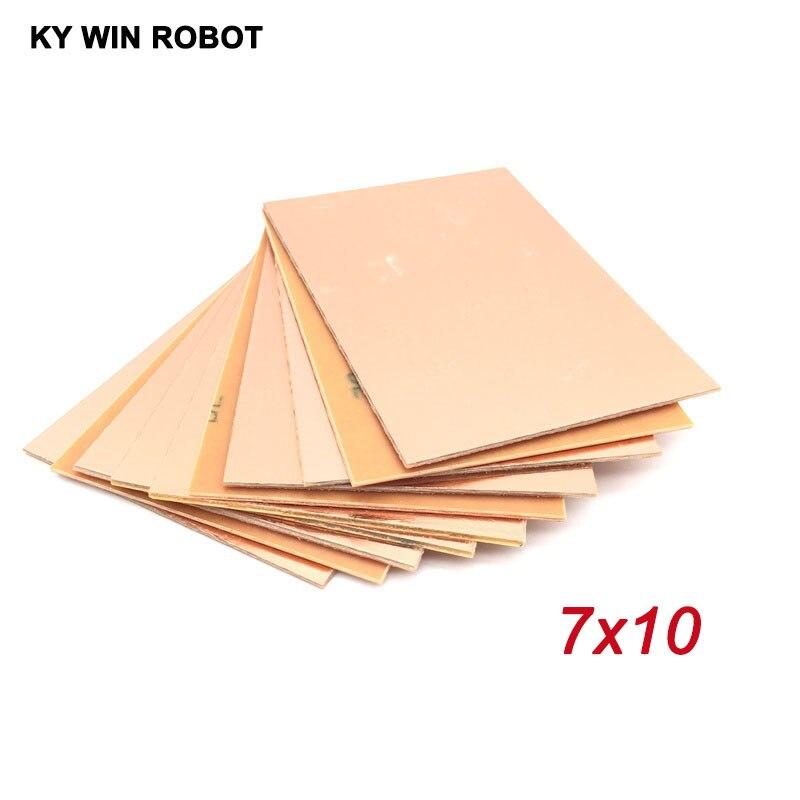 10 шт. PF PCB односторонняя медная плакированная пластина DIY PCB Kit ламинатная печатная плата 7x10 см