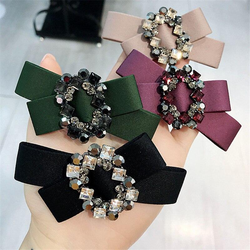 Horquillas coreanas hechas a mano con lazo de dibujos animados con diamantes de imitación para mujer adulta, horquillas para el pelo, horquillas para la cabeza, ropa para la Accessories-YHAWHRP023C5