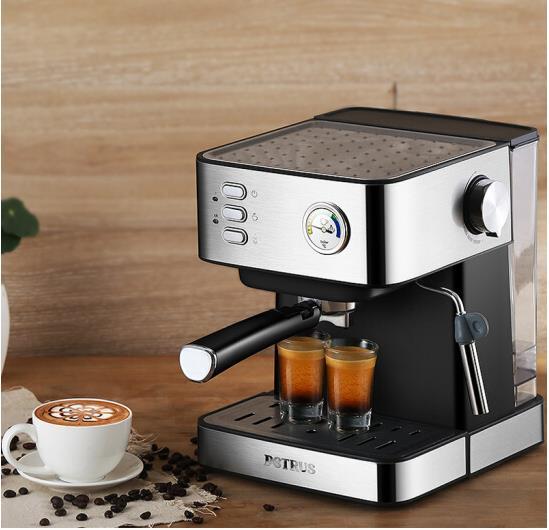 ماكينة القهوة المنزلية بيتروس مضخة ضغط المنزل الايطالية تبخير المنزل رغوة ماكينة إعداد الحليب PE3380B 20bar 1.5L مكتب إسبرسو 220 فولت