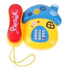 Champignon en plastique téléphone jouet enfants éducation précoce cadeau avec musique lumière mignon téléphone jouets bébé jouets