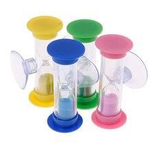 2 minuten MiNi Glas Zand Klok Voor Tanden Gadget Tandenborstel Swivel Zand Timer Douche Timer Multicolor Kids Zandloper