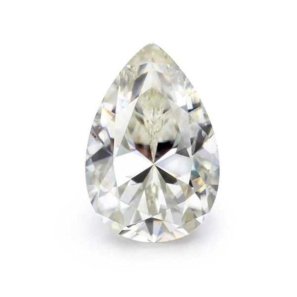 Gemas Cheestar, piedra suelta de moissanita, ij color con forma de pera, piedras preciosas de moissanita de 8*12mm, piedra de diamantes sintéticos de alta calidad