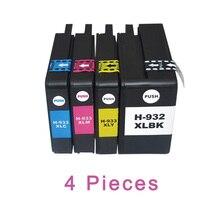 Para HP 932 de 933 HP Officejet 7110(H812a) 4 Uds XiongCai cartuchos de tinta compatibles 7610, 6600, 6700, 6100 impresora para HP932 para HP933 XL
